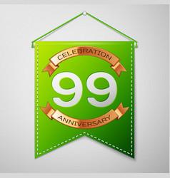 ninety nine years anniversary celebration design vector image