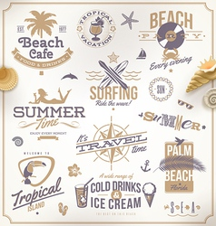 set of travel and vacation emblems vector image