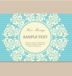 vintage card blue vector image vector image