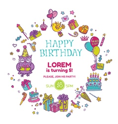 Birthday Invitation Card vector image