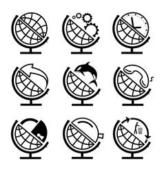 set of globe vector image vector image