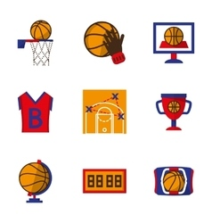 Team sport icons set Basketball vector image