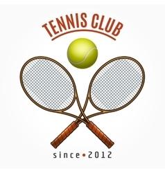 Tennis team club label vector image vector image
