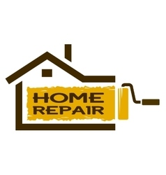 The emblem of home repair services vector image