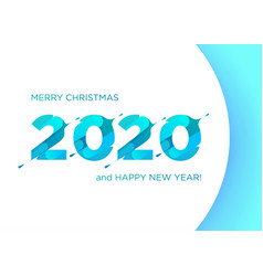 2020 liquid numbers christmas banner xmas vector image