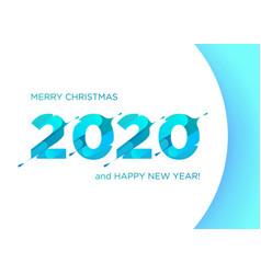 2020 liquid numbers christmas banner xmas vector image