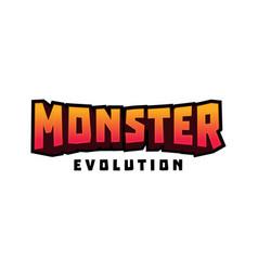 3d monster evolution writing vector image