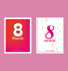 8 march set collection vector