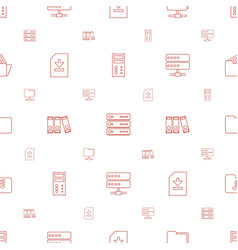 Archive icons pattern seamless white background vector