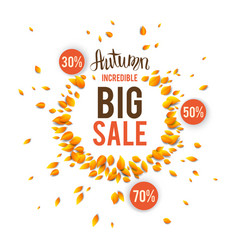 Autumn incredible sale vector