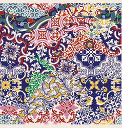 Azulejos tiles patchwork wallpaper vector