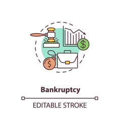 bankruptcy concept icon vector image