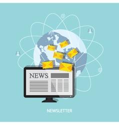banner of newsletter vector image