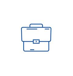 briefcase line icon concept briefcase flat vector image