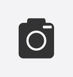 camera icon on white background flat vector image
