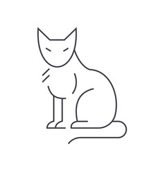 cat line icon sign on vector image