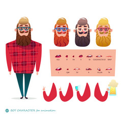 character speaks animations hipster beard vector image