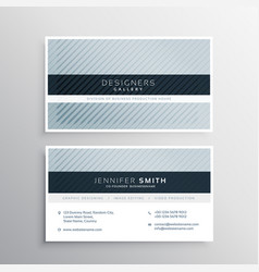 clean blue gray business card design template vector image