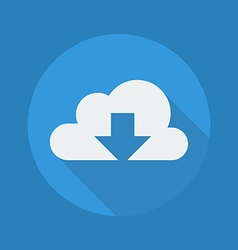 Cloud computing flat icon download vector