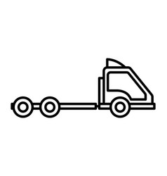 container truck head transport icon thick line vector image
