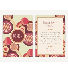 Cover design with abstract geometric pattern vector