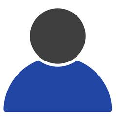 customer profile flat icon vector image