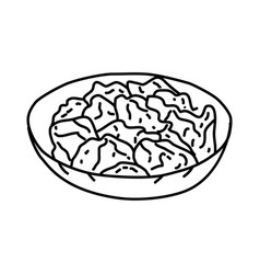 Donburi icon doodle hand drawn or outline icon vector
