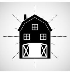 Farm fresh stable icon vector