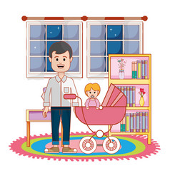 father with baby design vector image