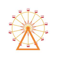 Ferris wheel mechanical carnival game vector
