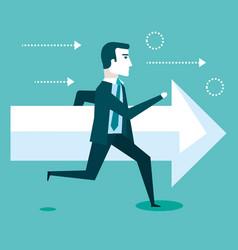 Financial success running man arrow business vector