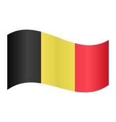 Flag of Belgium waving vector image