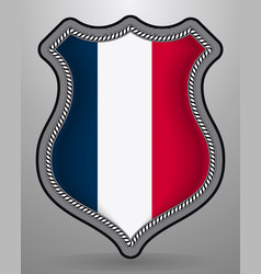 flag of france badge and icon vector image