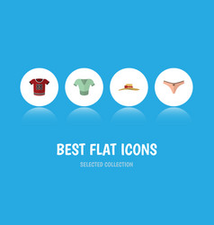 flat icon dress set of t-shirt lingerie elegant vector image