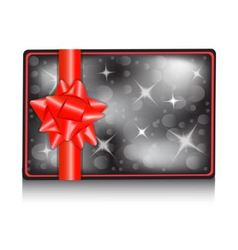 Gift card with a bow vector image