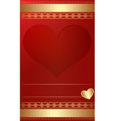 Golden vintage template with heart vector image vector image