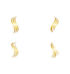 hair wave logo ion template vector image