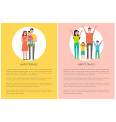 happy family spend time together parents and kids vector image