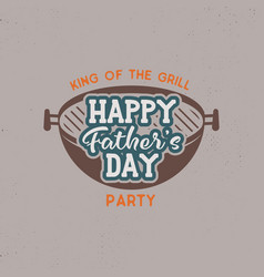Happy fathers day party label vintage design vector