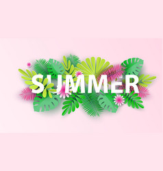 hello summer typographic design with abstract vector image