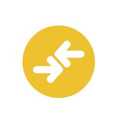 icon transfer arrow in color circle vector image