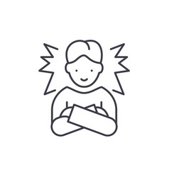 ideal employee line icon concept ideal employee vector image