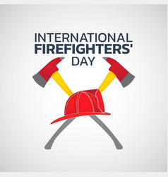 International firefighters day logo icon design vector