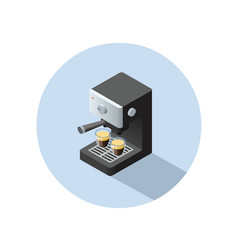 Isometric coffee machine object vector
