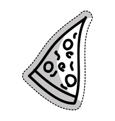 italian pizza isolated icon vector image
