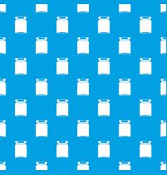 Jar pattern seamless blue vector