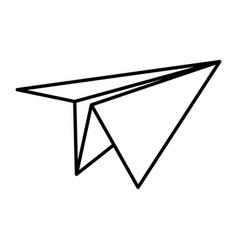 Line paper plane origami object design vector