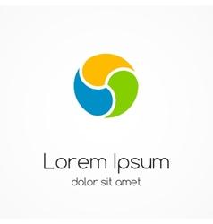 Logo template abstract circle creative sign vector
