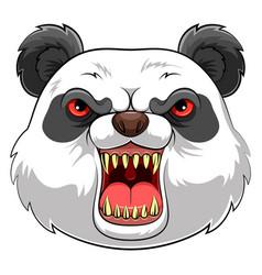 Mascot head an panda vector