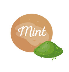 Mint powder spice poster vector